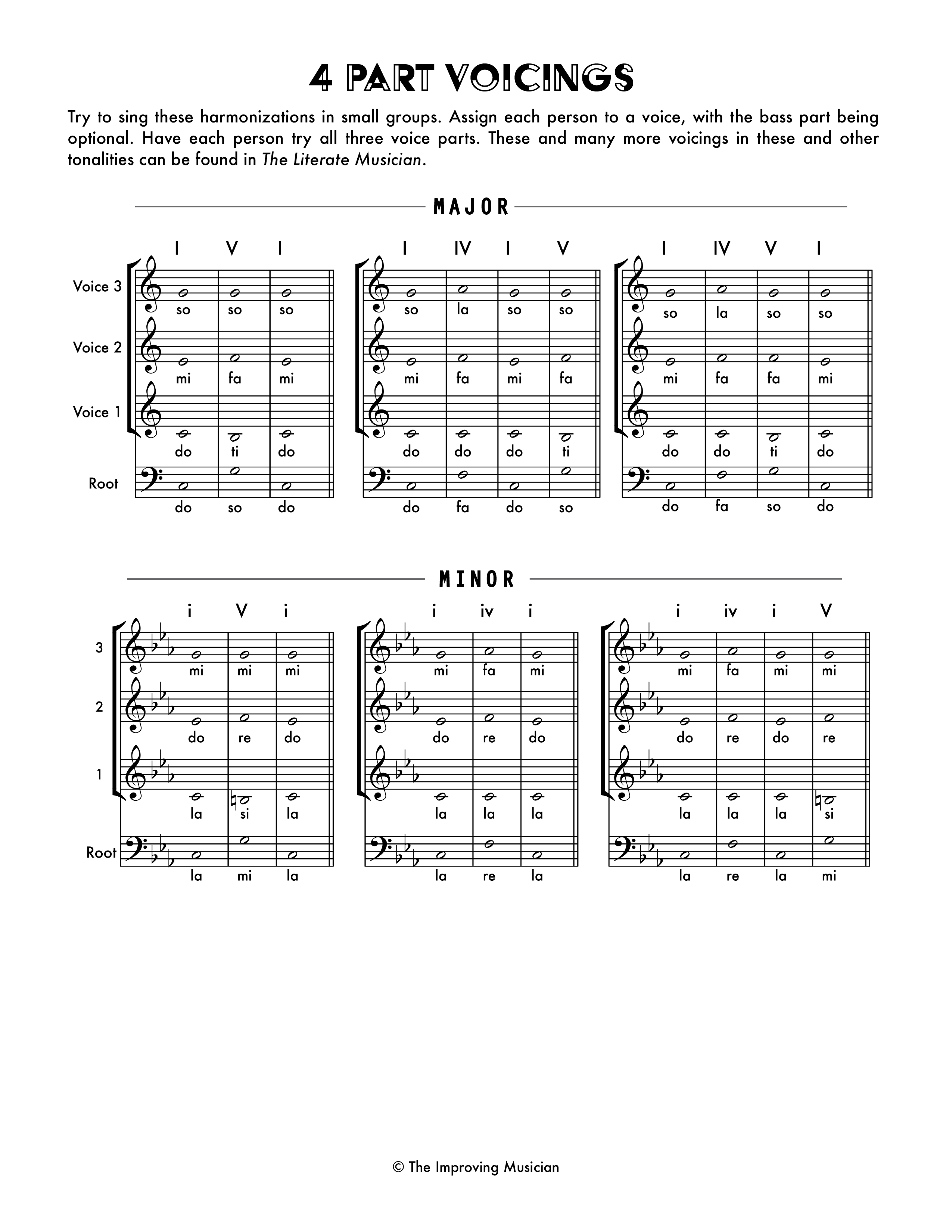 4 Part Voicings - Student Library